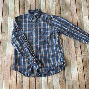 Brooks Brothers slim fit plaid button down shirt